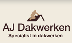 Het logo van AJ dakwerken specialist in dakwerken